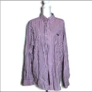 Chaps Pink&Navy Button Down NWOT SZXL